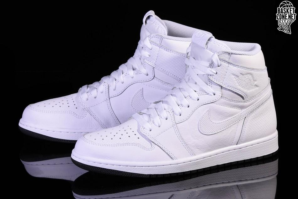 Og 50 High Jordan Retro Nike Pour 757 Perforated Pack Air 1 White ARjL354