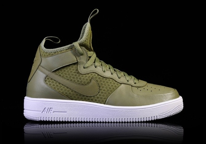 newest 95906 d04a1 NIKE AIR FORCE 1 ULTRAFORCE MID PALM GREEN