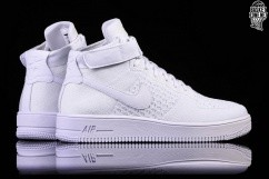 check out 1b391 c847d NIKE AIR FORCE 1 ULTRA FLYKNIT MID WHITE