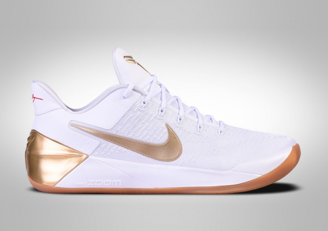 NIKE KOBE 12 A.D. BIG STAGE WHITE METALLIC GOLD
