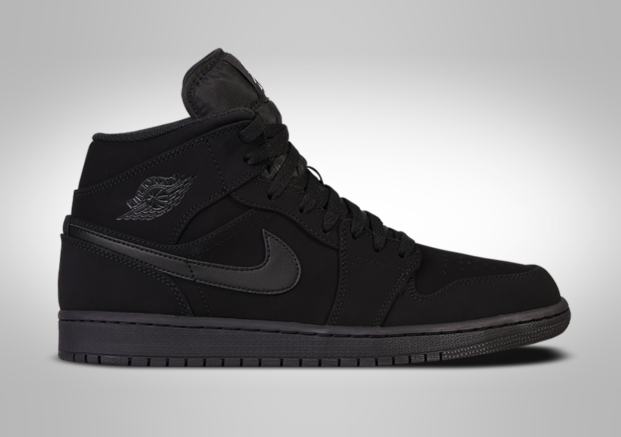 timeless design 6aad2 b0d49 NIKE AIR JORDAN 1 RETRO MID NUBUCK TRIPLE BLACK pour €99,00   Basketzone.net
