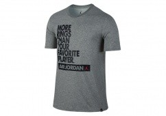 NIKE AIR JORDAN DRY MORE RINGS TEE CARBON HEATHER