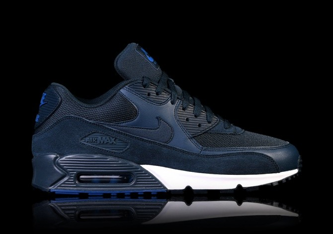 finest selection 5fca2 d94c6 NIKE AIR MAX 90 ESSENTIAL NAVY BLUE