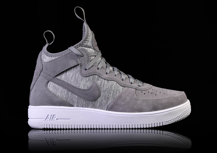outlet store b8f08 89025 NIKE AIR FORCE 1 ULTRAFORCE MID PRM COOL GREY pour €105,00   Basketzone.net