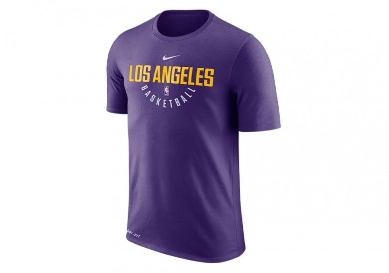 NIKE NBA LOS ANGELES LAKERS DRY TEE PRTC COURT PURPLE