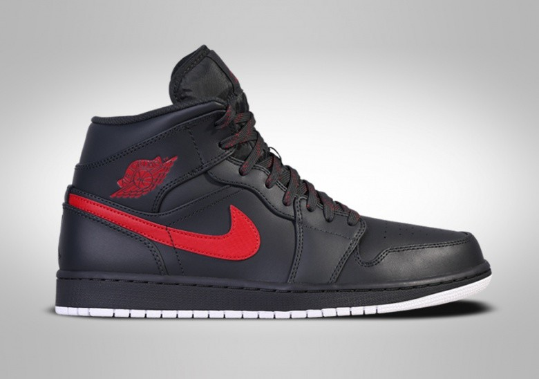 40291f3d967f 17af5 f007d  discount nike air jordan 1 retro mid anthracite red c067e e8077