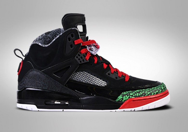 NIKE AIR JORDAN SPIZIKE BLACK RED POISON GREEN