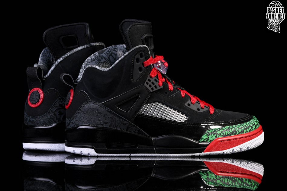 sports shoes 7de84 3bd7b NIKE AIR JORDAN SPIZIKE BLACK RED POISON GREEN