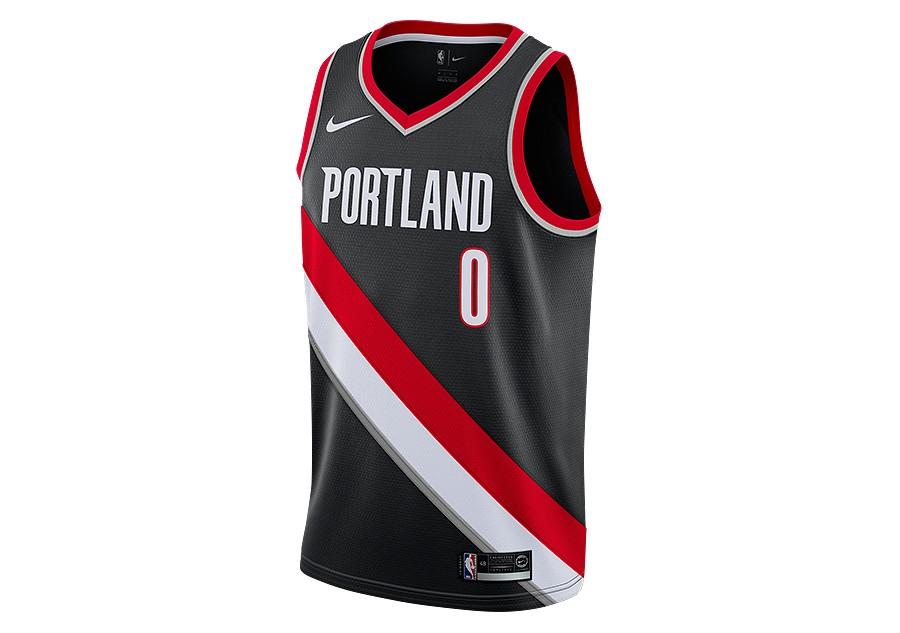 7e388fe20eb NIKE NBA PORTLAND TRAIL BLAZERS DAMIAN LILLARD SWINGMAN JERSEY ROAD BLACK  price €72.50   Basketzone.net
