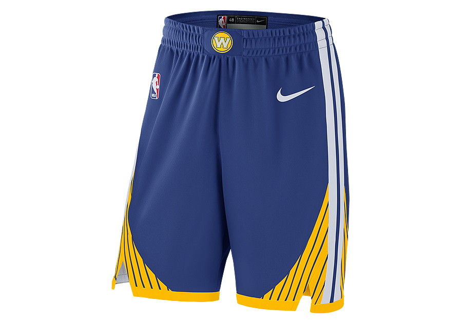 new product 6f794 42ba6 NIKE NBA GOLDEN STATE WARRIORS AUTHENTIC SHORTS ROAD RUSH BLUE pour €65,00    Basketzone.net