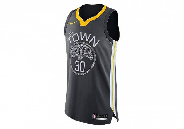 2b3262d81cef3 NIKE NBA GOLDEN STATE WARRIORS STEPHEN CURRY AUTHENTIC JERSEY ANTHRACITE por  €127