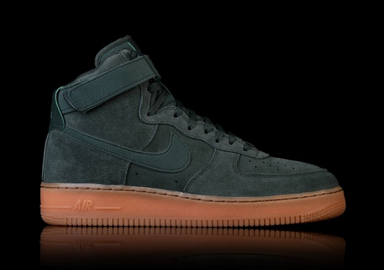 NIKE AIR FORCE 1 HIGH '07 LV8 SUEDE GREEN