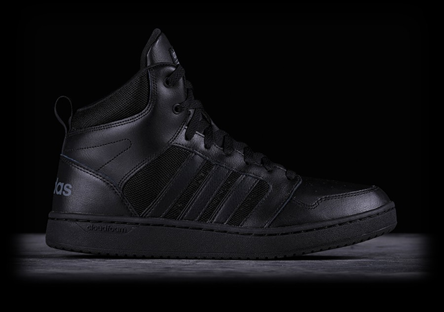 huge selection of c7528 f5647 ADIDAS CLOUDFOAM SUPER HOOPS MID BLACK