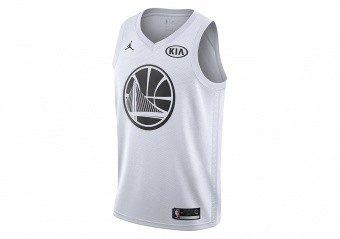 NIKE AIR JORDAN NBA KEVIN DURANT ALL-STAR 2018 SWINGMAN JERSEY WHITE
