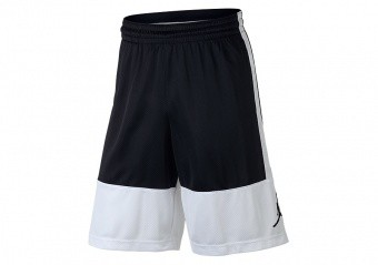 NIKE AIR JORDAN RISE SOLID SHORTS WHITE BLACK