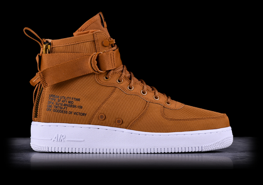 official photos 25b27 12902 NIKE AIR FORCE 1 MID SF DESERT OCHRE pour €127,50   Basketzone.net