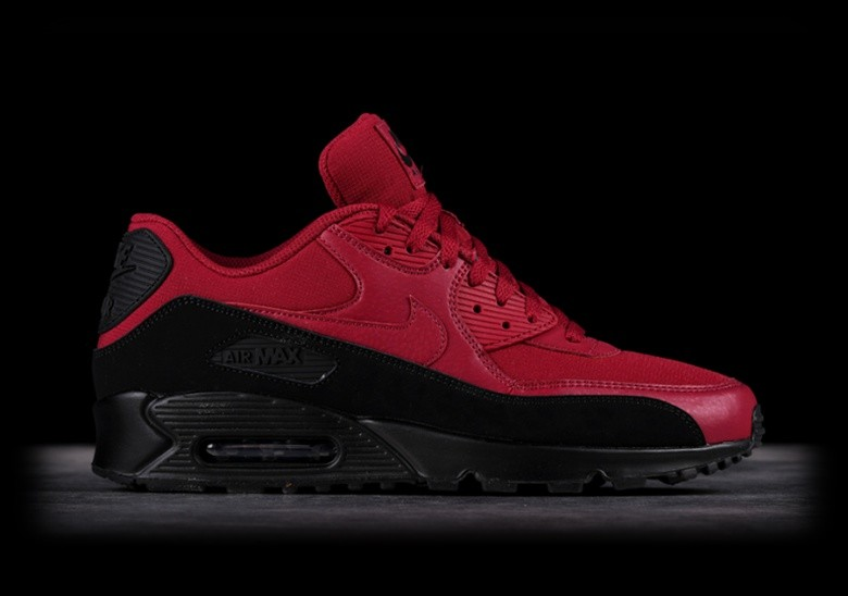 separation shoes 09a3f 52877 NIKE AIR MAX 90 ESSENTIAL BLACK RED
