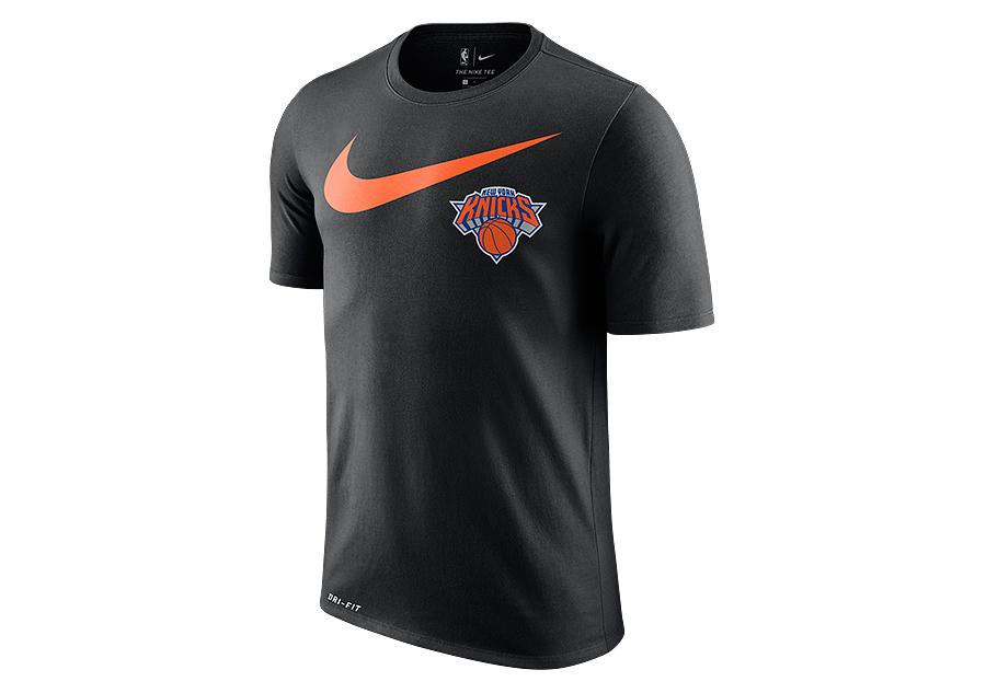 the latest b5dd8 0e41f NIKE NBA NEW YORK KNICKS SWOOSH LOGO DRY TEE BLACK pour €27 ...
