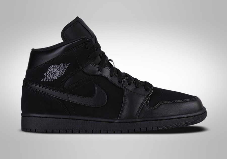 new style c9f17 e790c NIKE AIR JORDAN 1 RETRO MID TRIPLE BLACK