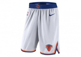NIKE NBA NEW YORK KNICKS SWINGMAN HOME SHORTS WHITE