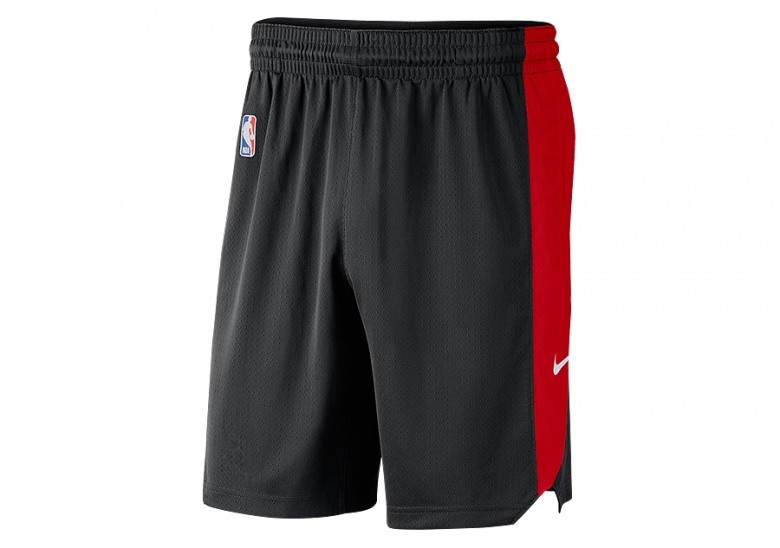 NIKE NBA TORONTO RAPTORS PRACTICE SHORTS BLACK