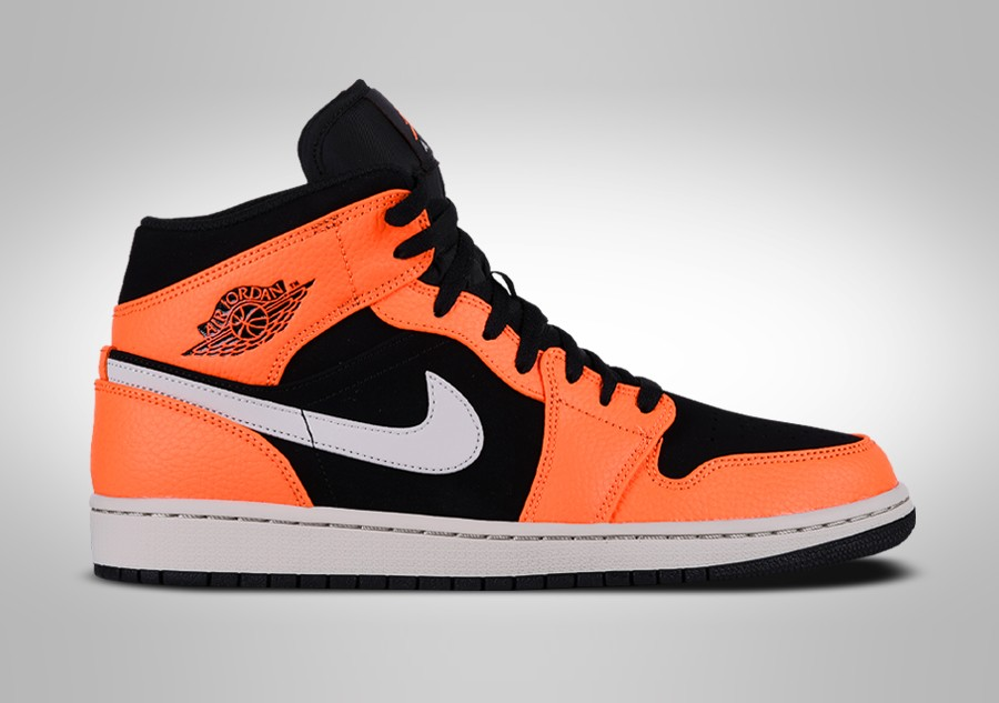 new concept 02168 d8bb3 NIKE AIR JORDAN 1 RETRO MID BLACK ORANGE price €99.00 ...