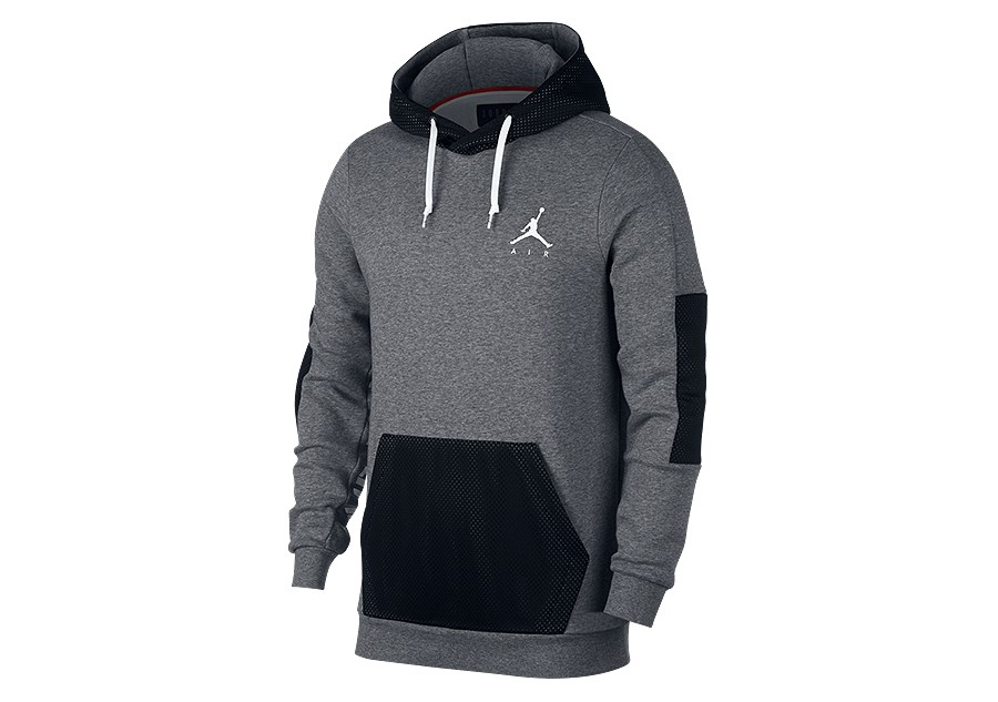 low priced 5f6e9 e5d85 NIKE AIR JORDAN JUMPMAN HYBRID FLEECE PULLOVER CARBON HEATHER price €72.50    Basketzone.net