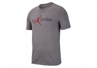 NIKE AIR JORDAN SPORTSWEAR BRAND 5 TEE CARBON HEATHER