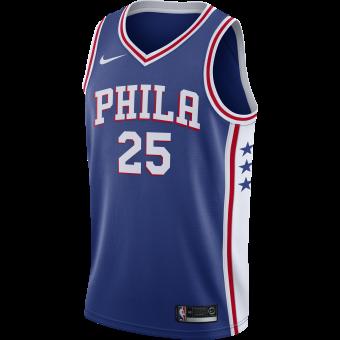 NIKE NBA PHILADELPHIA 76ERS BEN SIMMONS SWINGMAN ROAD JERSEY