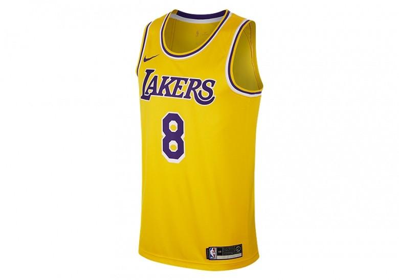 NIKE NBA LOS ANGELES LAKERS KOBE BRYANT SWINGMAN ROAD JERSEY AMARILLO