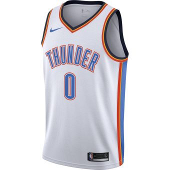NIKE NBA OKLAHOMA CITY THUNDER RUSSELL WESTBROOK SWINGMAN HOME JERSEY