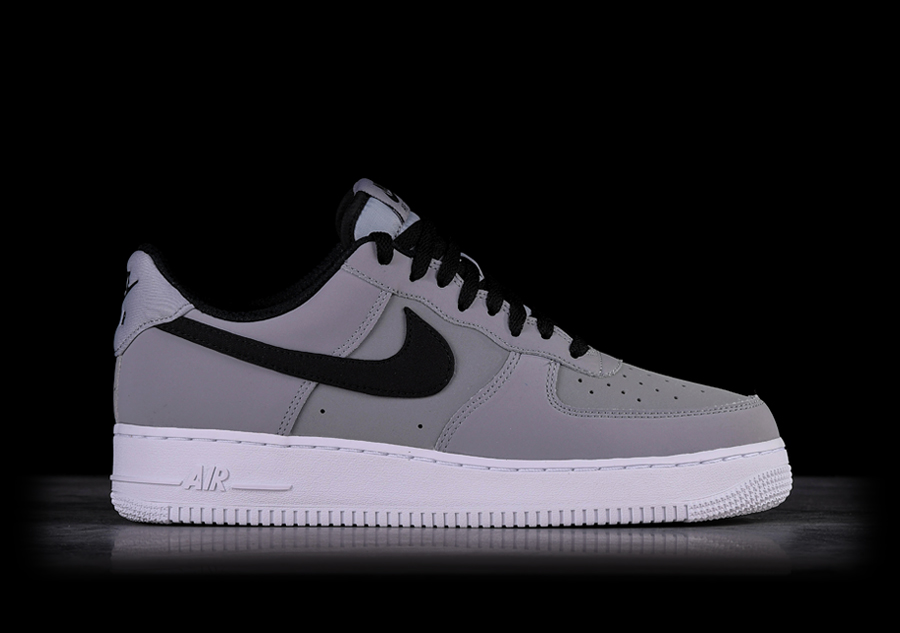 the latest 00eae a5280 NIKE AIR FORCE 1  07 LEATHER GREY BLACK pour €97,50   Basketzone.net