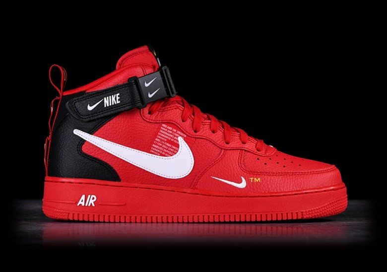 NIKE AIR FORCE 1 MID '07 LV8 UTILITY RED pour €127,50 ...