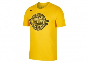 NIKE NBA GOLDEN STATE WARRIORS DRY TEE UNIVERSITY GOLD