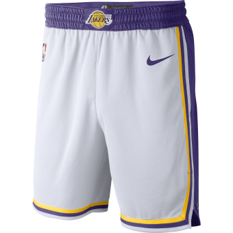NIKE NBA LOS ANGELES LAKERS SWINGMAN HOME SHORTS