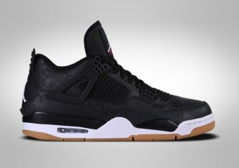 best website 43427 a980d SCARPE DA BASKET. NIKE AIR JORDAN 4 RETRO BLACK LASER