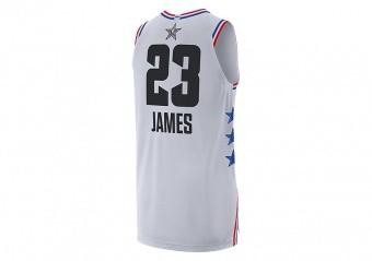 NIKE AIR JORDAN NBA ALL STAR WEEKEND 2019 LEBRON JAMES AUTHENTIC JERSEY WHITE