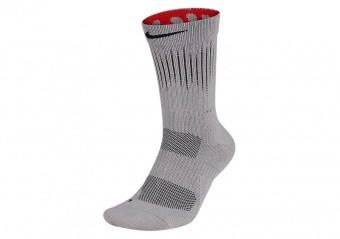NIKE ELITE CREW - GFX 1 SOCKS ATMOSPHERE GREY