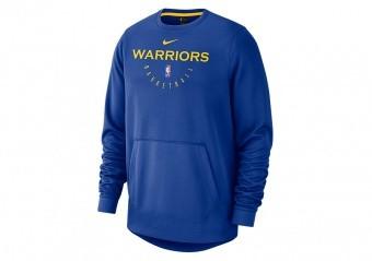NIKE NBA GOLDEN STATE WARRIORS SPOTLIGHT CREW HOODIE RUSH BLUE