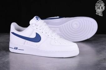 nike air force 1 biały deep royal