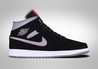 wholesale dealer 1f219 d0c26 BASKETBALL SHOES. NIKE AIR JORDAN 1 RETRO MID BLACK GREY RED