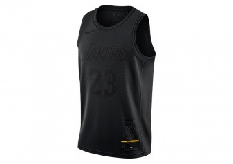 NIKE NBA MVP LOS ANGELES LAKERS LEBRON JAMES JERSEY BLACK