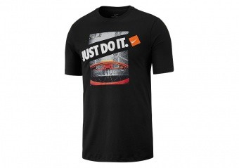 NIKE 'JUST DO IT' DRY TEE BLACK