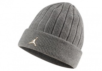 NIKE AIR JORDAN INGOT CUFFED BEANIE CARBON HEATHER