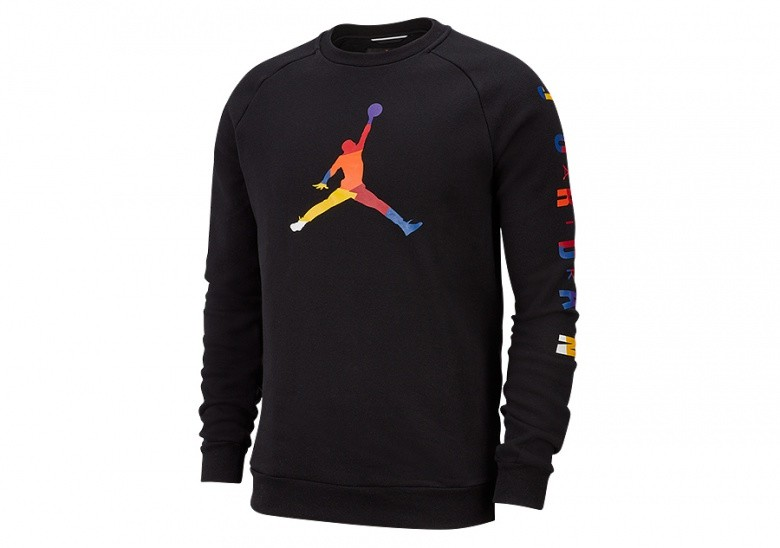 NIKE AIR JORDAN DNA FLEECE CREW BLACK
