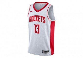 NIKE NBA HOUSTON ROCKETS JAMES HARDEN SWINGMAN HOME JERSEY WHITE