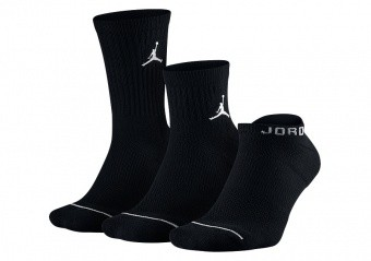 NIKE AIR JORDAN EVERYDAY WATERFALL SOCKS BLACK