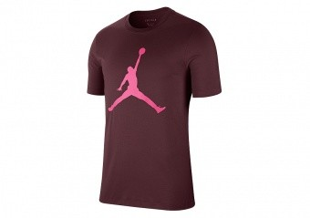 NIKE AIR JORDAN JUMPMAN TEE NIGHT MAROON