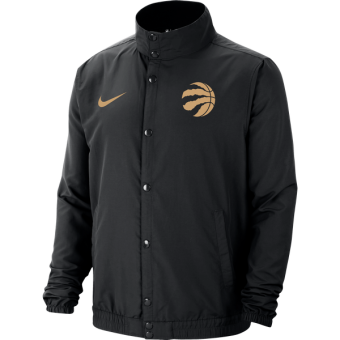 NIKE NBA TORONTO RAPTORS CITY EDITION LIGHTWEIGHT JACKET BLACK