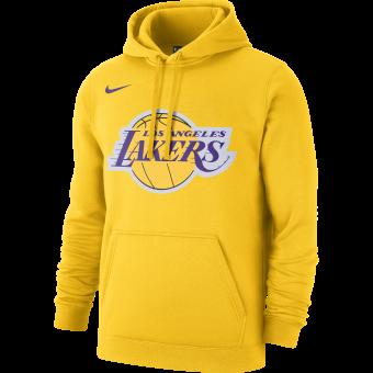NIKE NBA LOS ANGELES LAKERS LOGO FLEECE HOODIE